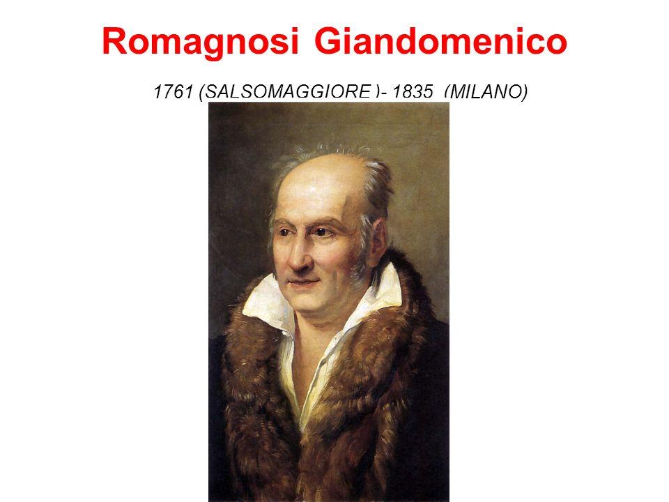 Romagnosi Giandomenico 1761 (SALSOMAGGIORE )- 1835 (MILANO)