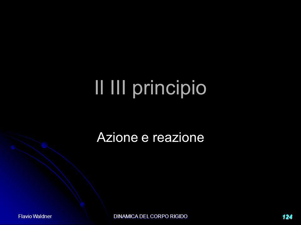 Flavio Waldner DINAMICA DEL CORPO RIGIDO 124 Il III principio Azione e reazione