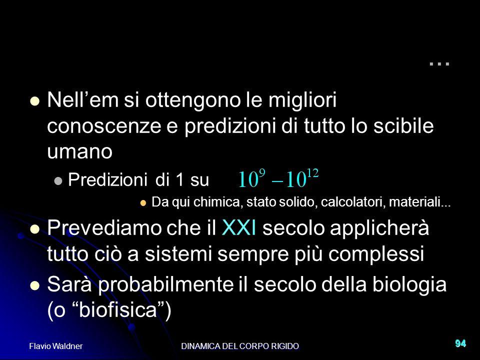 Flavio WaldnerDINAMICA DEL CORPO RIGIDO 94... Nellem si ottengono le migliori conoscenze e predizioni di tutto lo scibile umano Predizioni di 1 su Da