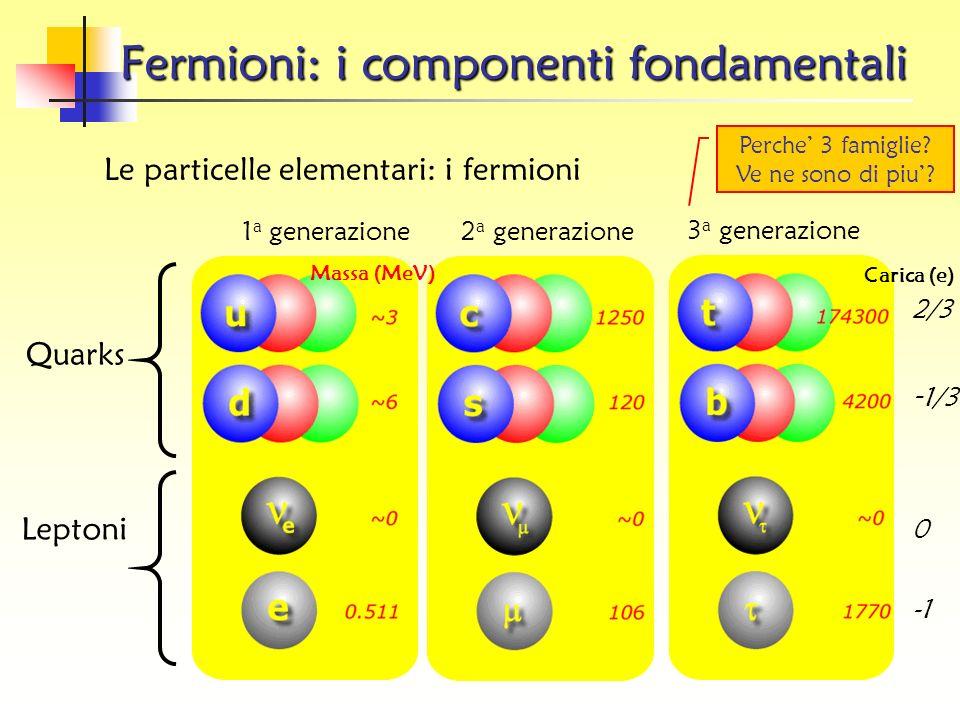 Il Modello Standard Nel Modello Standard esistono due generi di particelle: Particelle materiali: il Modello Standard sostiene che la maggior parte de