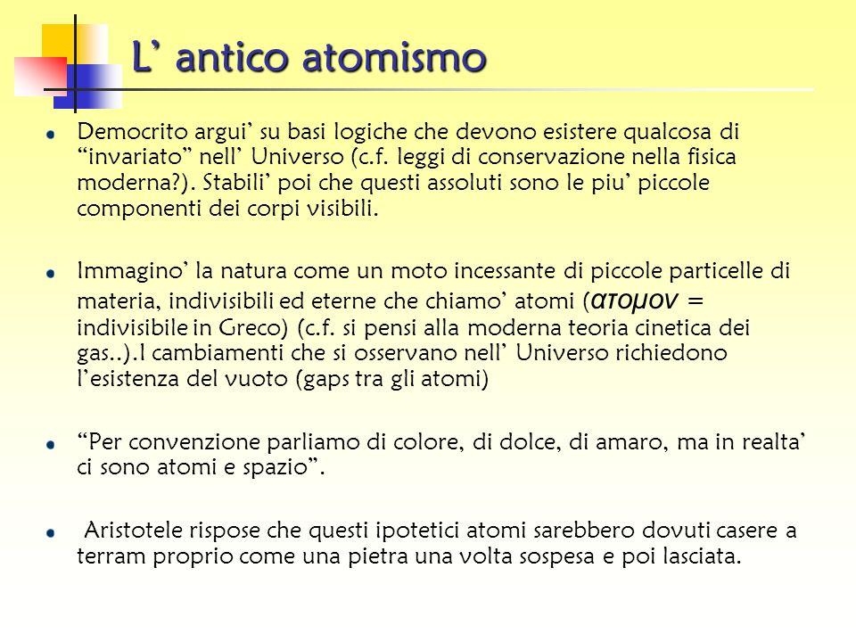 Antimateria Per ogni particella (materia) c'è la corrispondente antiparticella (antimateria). Un'antiparticella è identica alla sua particella sotto o