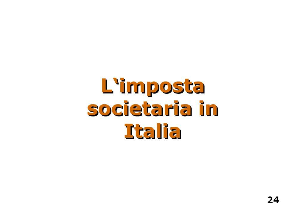 Limposta societaria in Italia 24