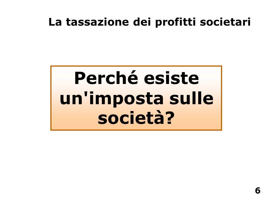 Perché esiste un'imposta sulle società? La tassazione dei profitti societari 6