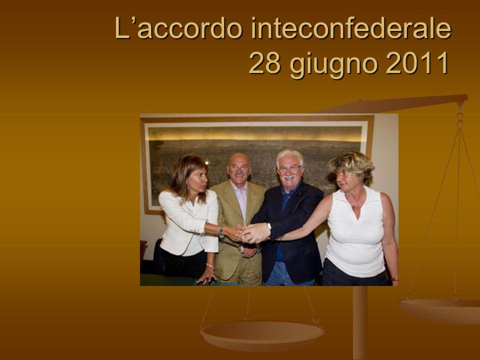 Laccordo inteconfederale 28 giugno 2011