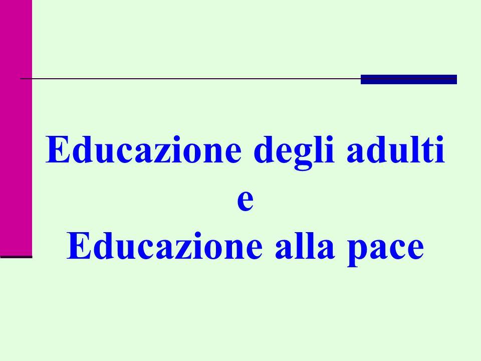 Educazione degli adulti e Educazione alla pace