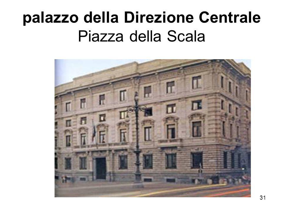 31 palazzo della Direzione Centrale Piazza della Scala