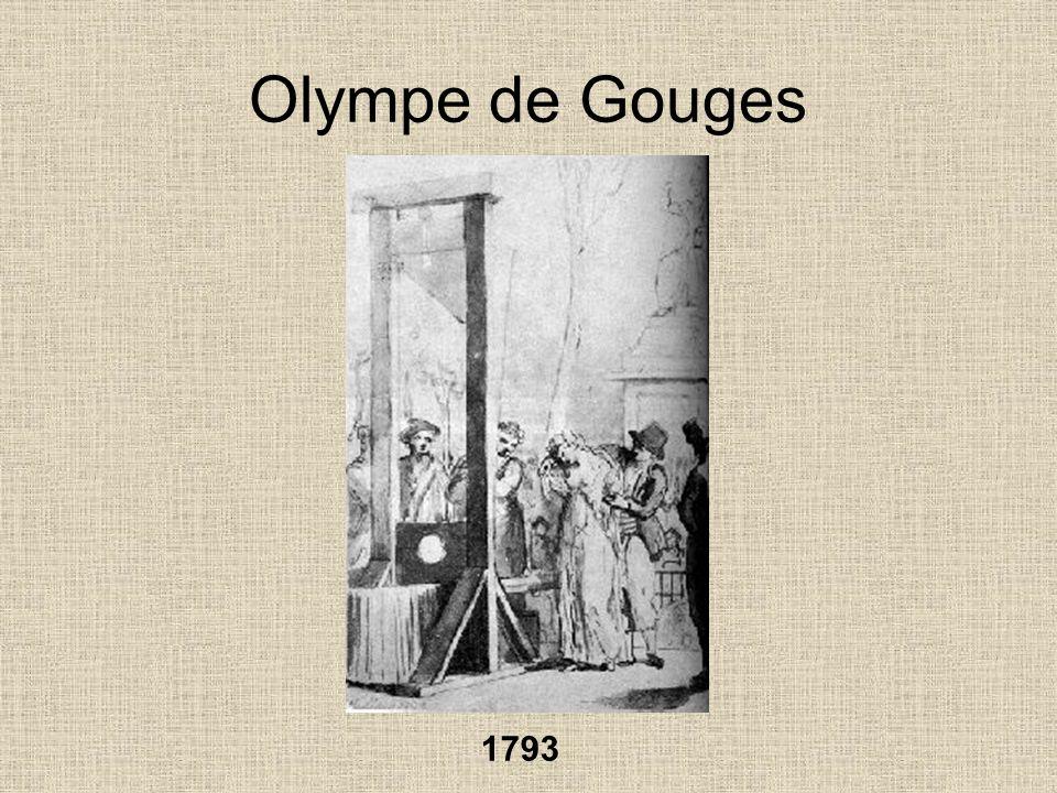 Olympe de Gouges 1793