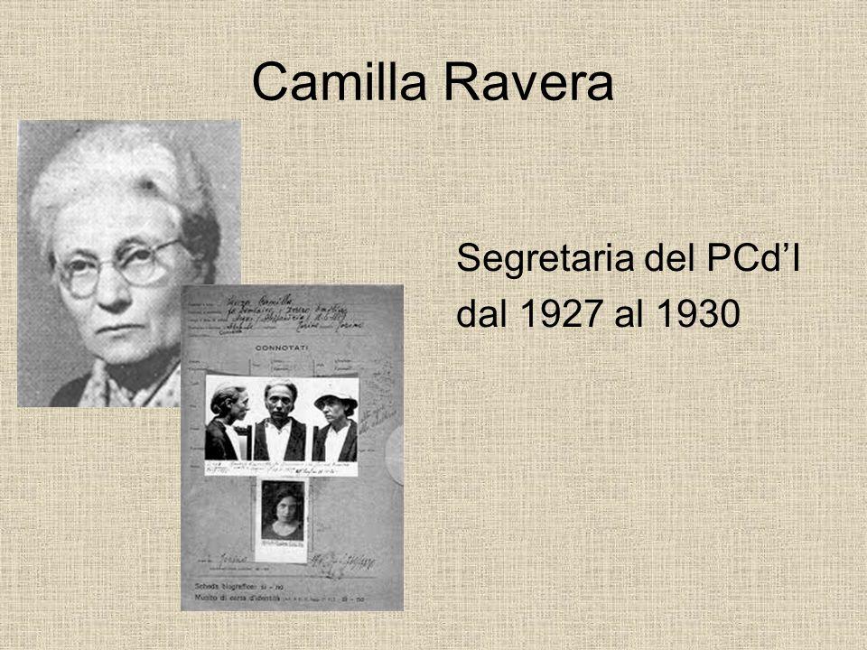 Camilla Ravera Segretaria del PCdI dal 1927 al 1930