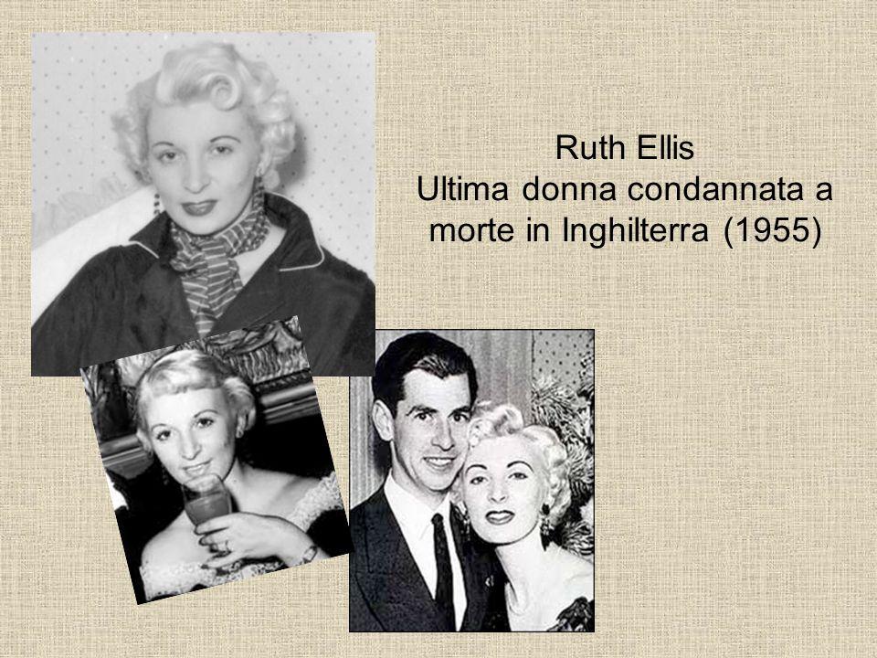 Ruth Ellis Ultima donna condannata a morte in Inghilterra (1955)