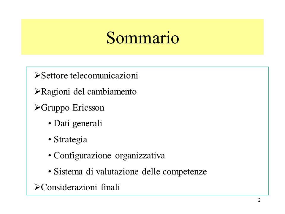 3 Settore telecomunicazioni Individuare caratteristiche del settore Individuare evoluzioni del settore