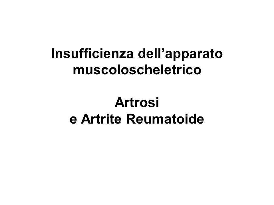 Insufficienza dellapparato muscoloscheletrico Artrosi e Artrite Reumatoide