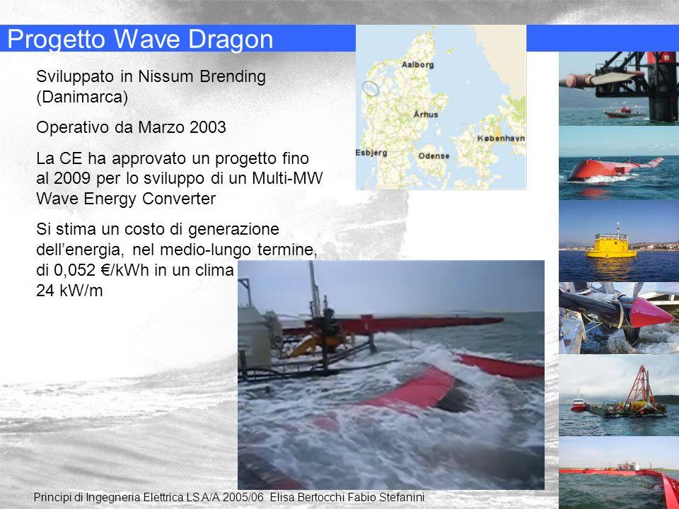 Progetto Wave Dragon Principi di Ingegneria Elettrica LS A/A 2005/06 Elisa Bertocchi Fabio Stefanini Sviluppato in Nissum Brending (Danimarca) Operati