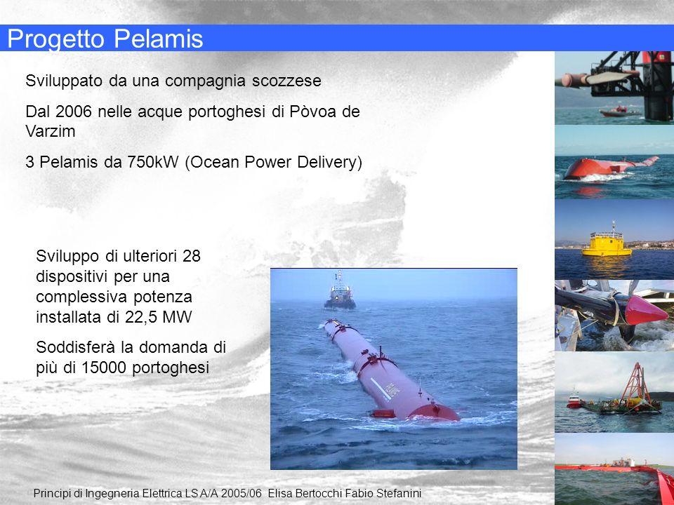 Progetto Pelamis Principi di Ingegneria Elettrica LS A/A 2005/06 Elisa Bertocchi Fabio Stefanini Sviluppato da una compagnia scozzese Dal 2006 nelle a