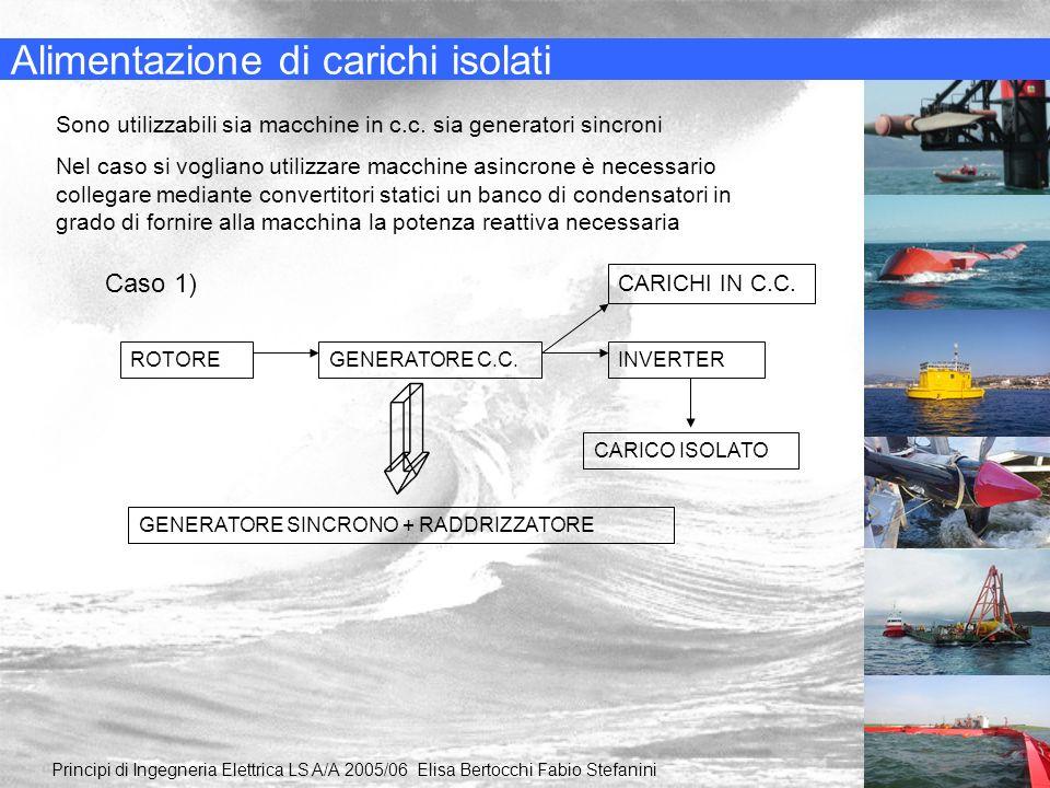 Alimentazione di carichi isolati Principi di Ingegneria Elettrica LS A/A 2005/06 Elisa Bertocchi Fabio Stefanini Sono utilizzabili sia macchine in c.c