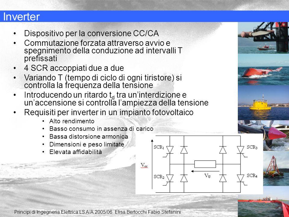 Inverter Principi di Ingegneria Elettrica LS A/A 2005/06 Elisa Bertocchi Fabio Stefanini Dispositivo per la conversione CC/CA Commutazione forzata att