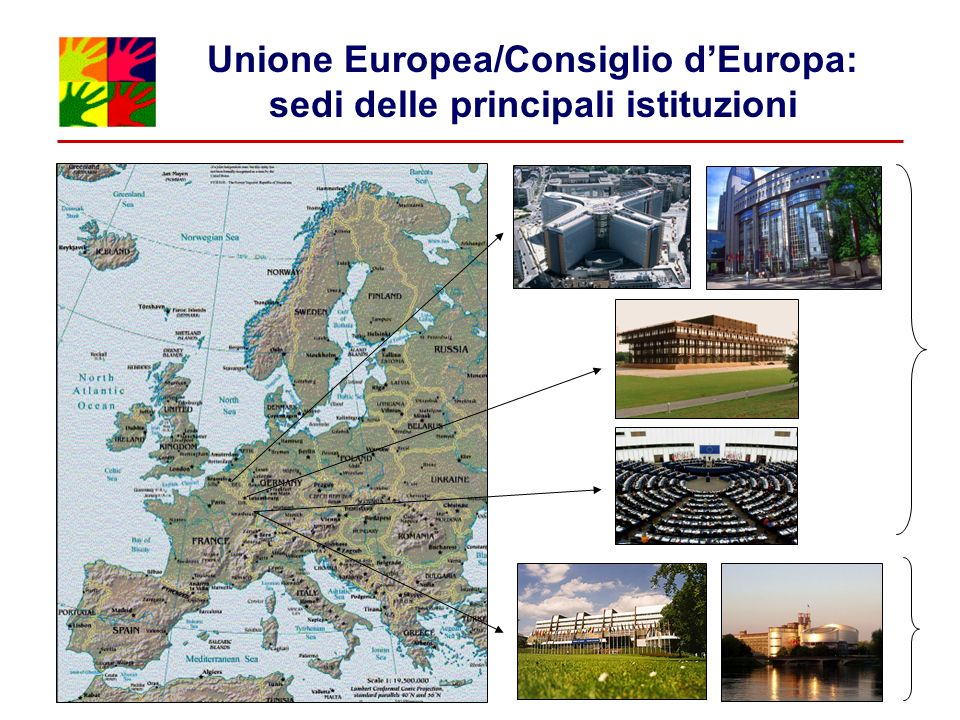 Unione Europea/Consiglio dEuropa: sedi delle principali istituzioni