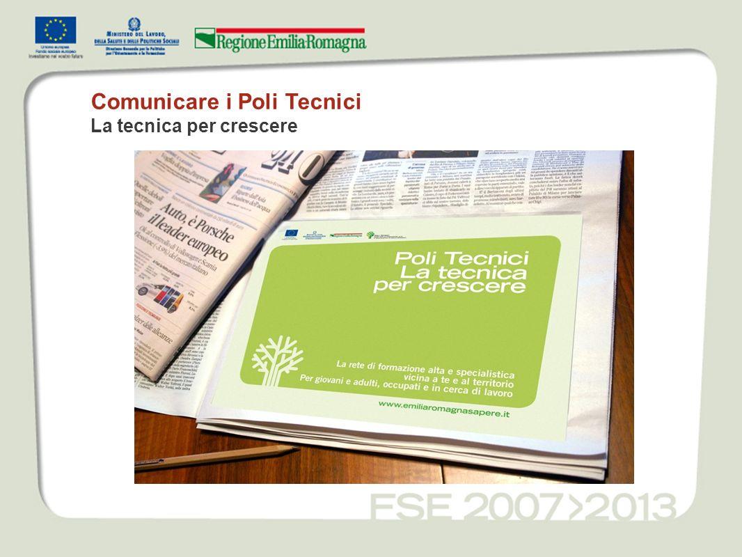 Comunicare i Poli Tecnici La tecnica per crescere