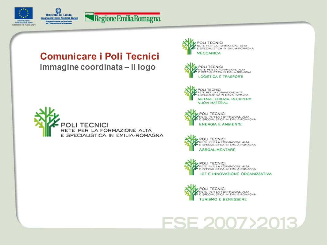 Comunicare i Poli Tecnici Immagine coordinata – Il logo