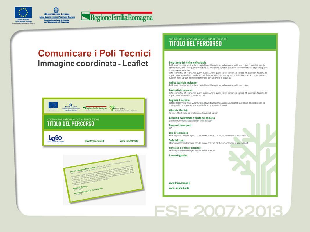 Comunicare i Poli Tecnici Immagine coordinata - Leaflet
