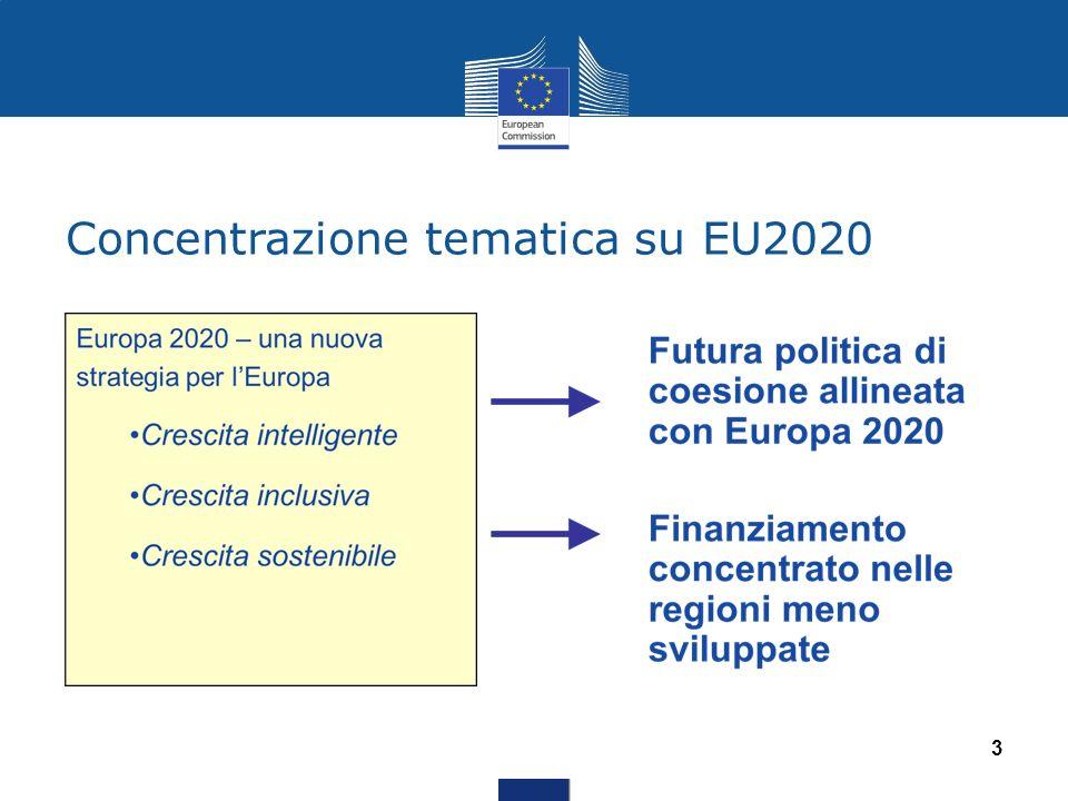 Concentrazione tematica su EU2020 3