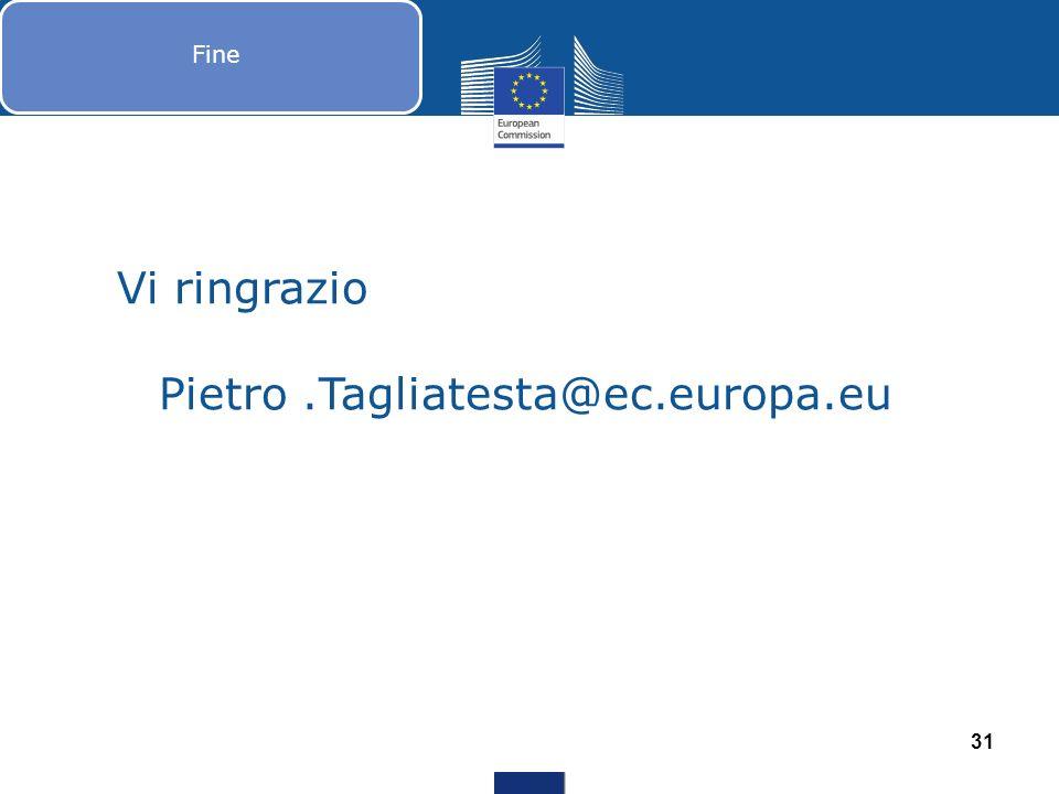 Novembre Dicembre Fine 31 Vi ringrazio Pietro.Tagliatesta@ec.europa.eu