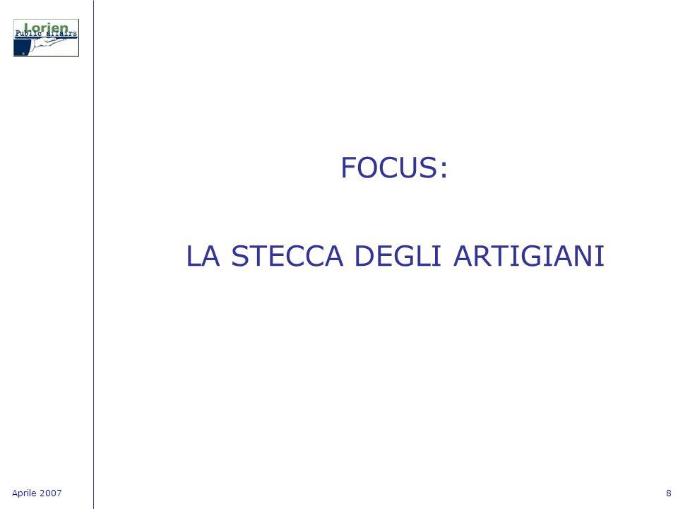 Aprile 20078 FOCUS: LA STECCA DEGLI ARTIGIANI
