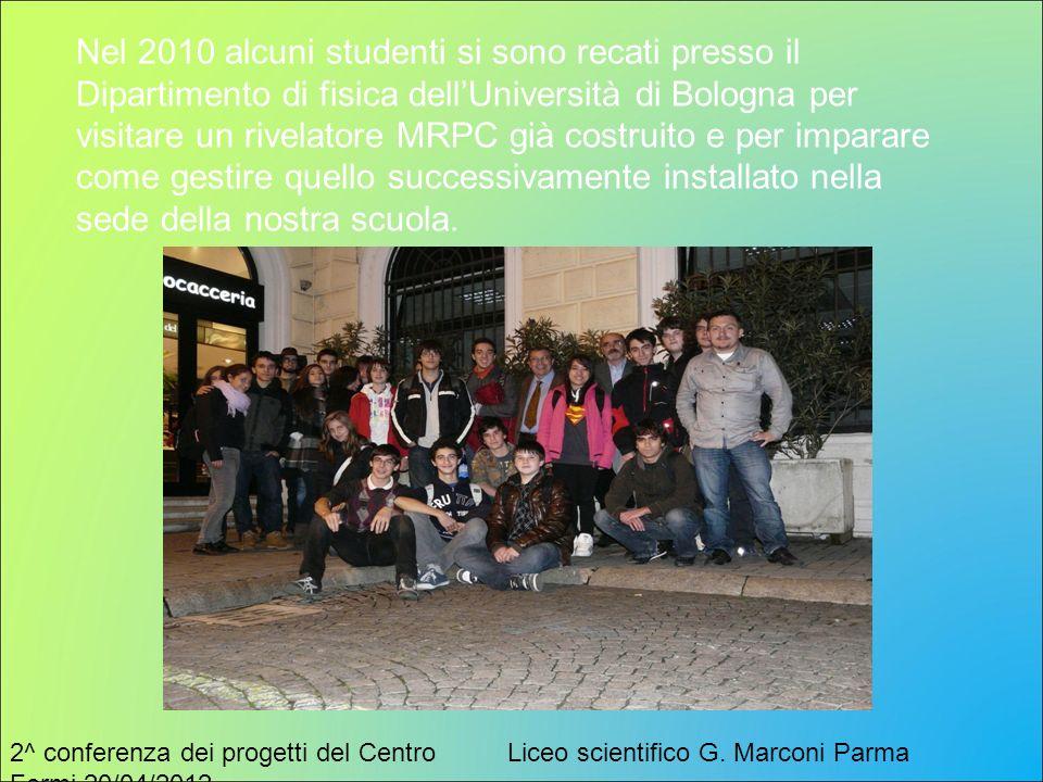 2^ conferenza dei progetti del Centro Fermi 20/04/2012 Liceo scientifico G. Marconi Parma Nel 2010 alcuni studenti si sono recati presso il Dipartimen