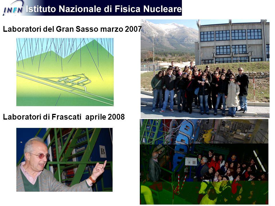 Laboratori di Frascati aprile 2008 Laboratori del Gran Sasso marzo 2007