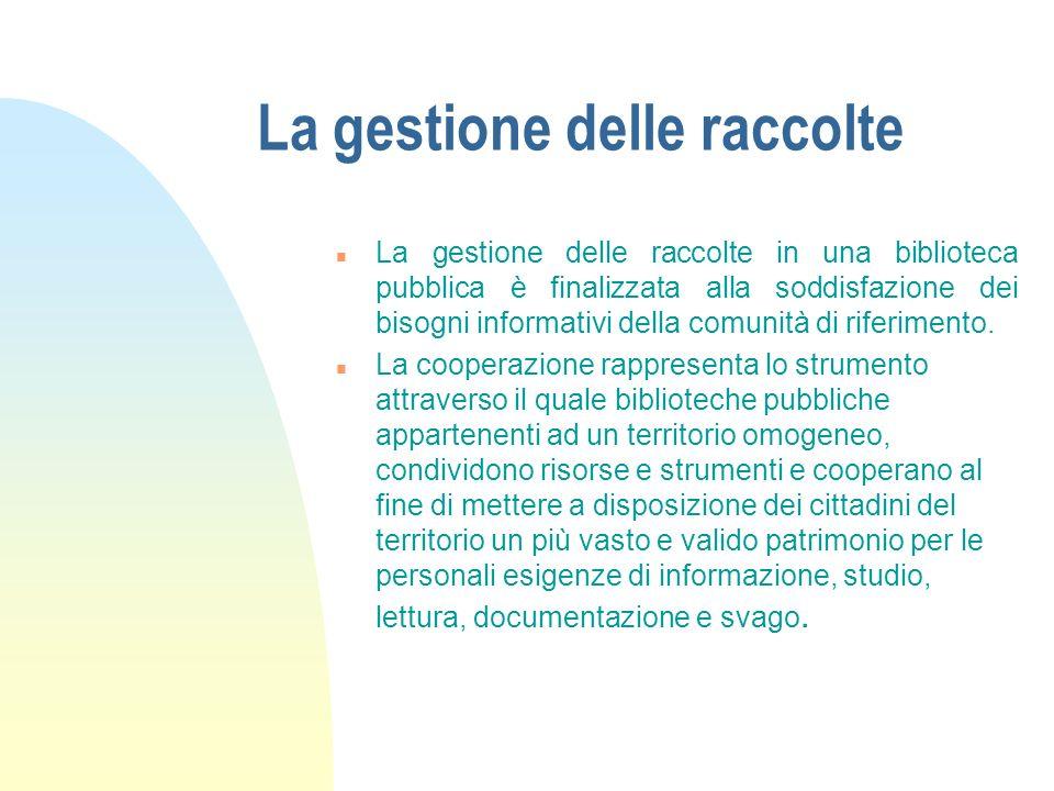 La carta delle collezioni del Sistema Bibliotecario dell'Ovest Como: dalla teoria alla pratica Seriate, lunedì 23 novembre 2009 Giuliana Casartelli Si