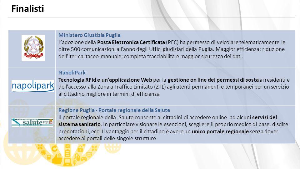 Ministero Giustizia Puglia Ladozione della Posta Elettronica Certificata (PEC) ha permesso di veicolare telematicamente le oltre 500 comunicazioni allanno degli Uffici giudiziari della Puglia.
