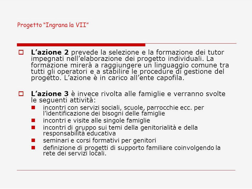 Lazione 2 prevede la selezione e la formazione dei tutor impegnati nellelaborazione dei progetto individuali.