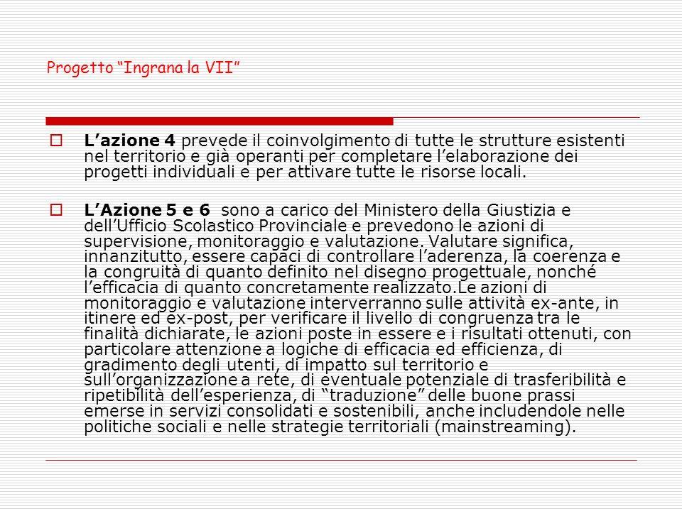 Lazione 4 prevede il coinvolgimento di tutte le strutture esistenti nel territorio e già operanti per completare lelaborazione dei progetti individuali e per attivare tutte le risorse locali.