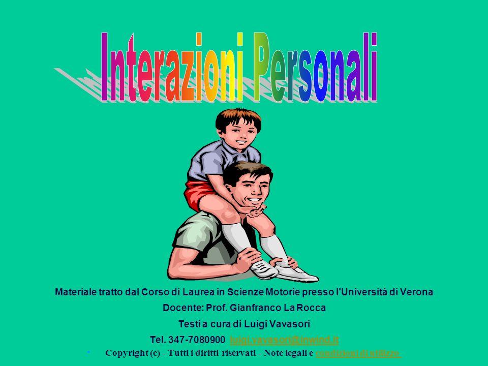 Materiale tratto dal Corso di Laurea in Scienze Motorie presso lUniversità di Verona Docente: Prof.