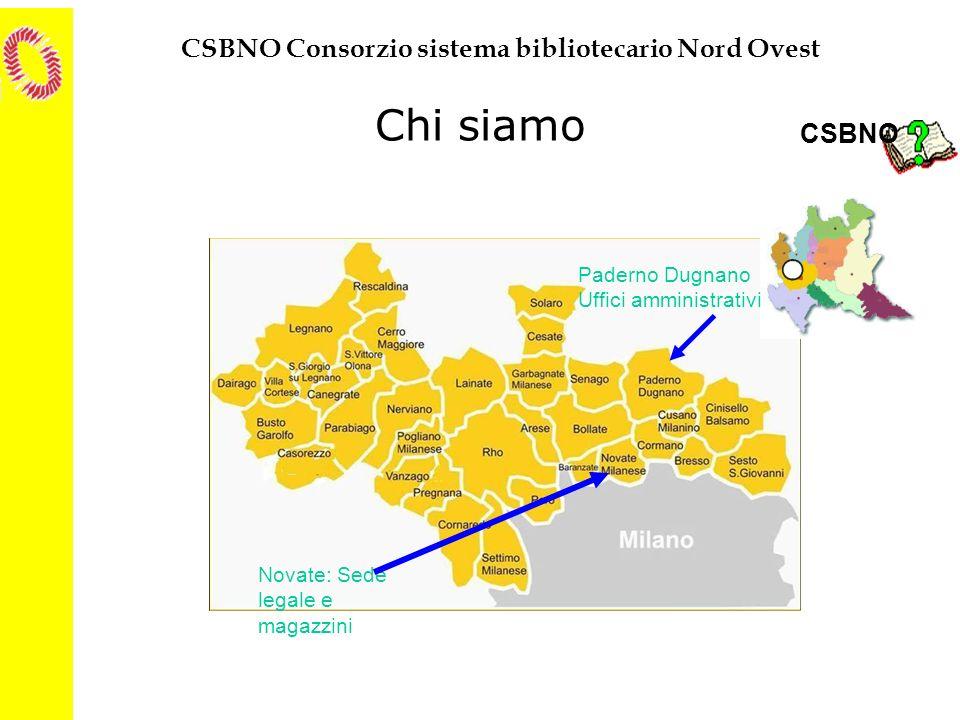 CSBNO Consorzio sistema bibliotecario Nord Ovest Il caso e la necessità Il solo fatto di lavorare in rete con strumenti di integrazione presenti nel software hanno cambiato profondamente i risultati degli acquisti