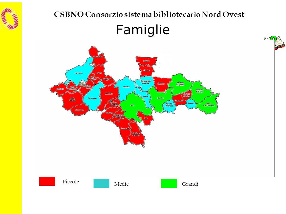 CSBNO Consorzio sistema bibliotecario Nord Ovest I NUOVI ACQUISTI (2001) Indicatore di staticità secondo famiglie