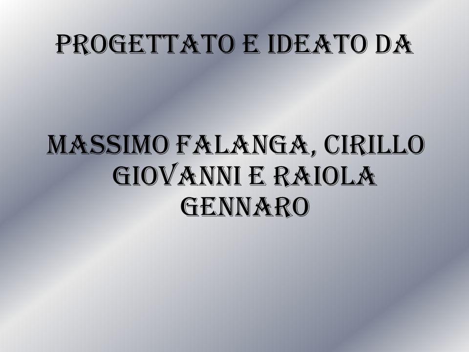 Progettato e ideato da Massimo Falanga, Cirillo Giovanni e Raiola Gennaro