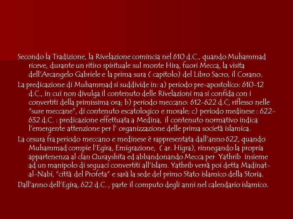 Il Primo Secolo Abbaside (750-850 ca.) Formazione di un impero multietnico Raccolta e selezione tradizioni giuridiche e canonizzazione delle 4 scuole legali ortodosse Spostamento del baricentro politico dellImpero verso Oriente: il califfo al-Mansur ( 754-775) fonda Baghdad nel 763.