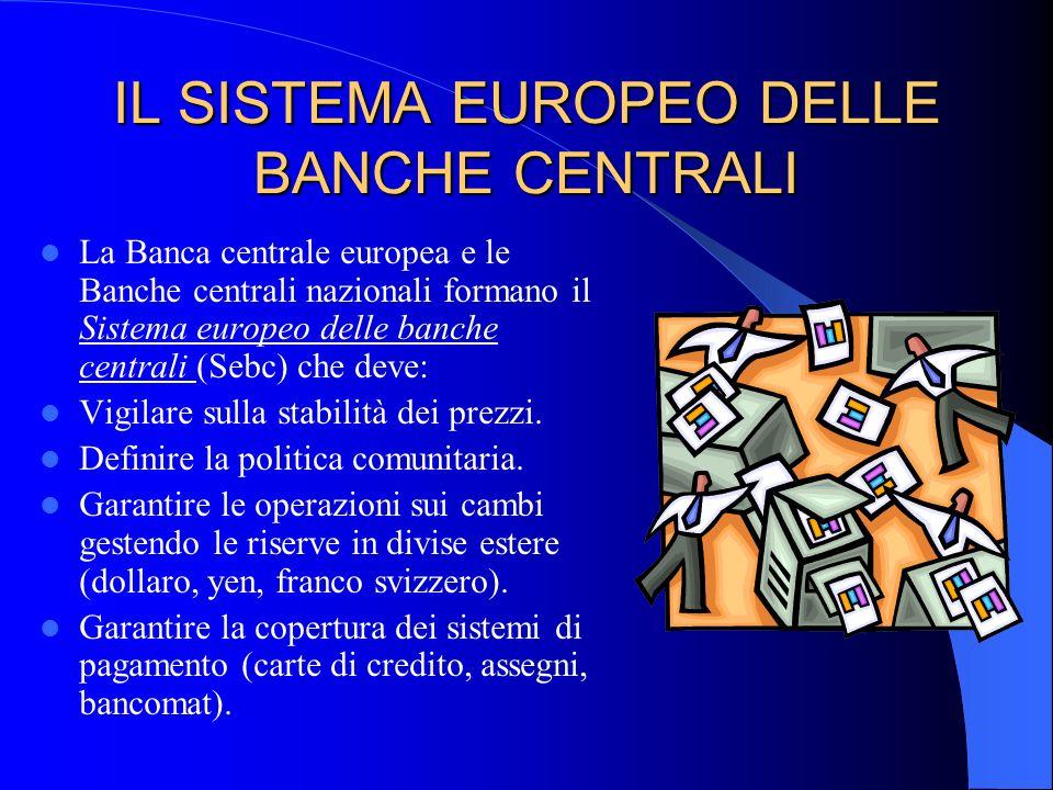 IL SISTEMA EUROPEO DELLE BANCHE CENTRALI La Banca centrale europea e le Banche centrali nazionali formano il Sistema europeo delle banche centrali (Se