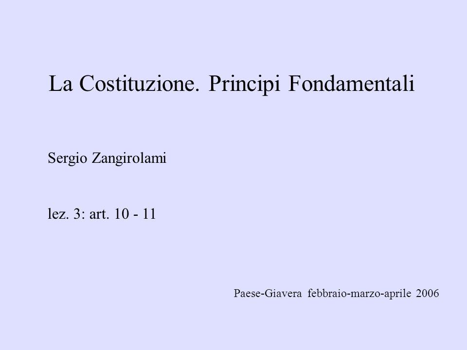 La Costituzione.Principi Fondamentali Sergio Zangirolami lez.