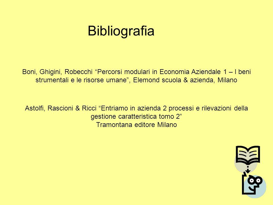 Astolfi, Rascioni & Ricci Entriamo in azienda 2 processi e rilevazioni della gestione caratteristica tomo 2 Tramontana editore Milano Bibliografia Bon