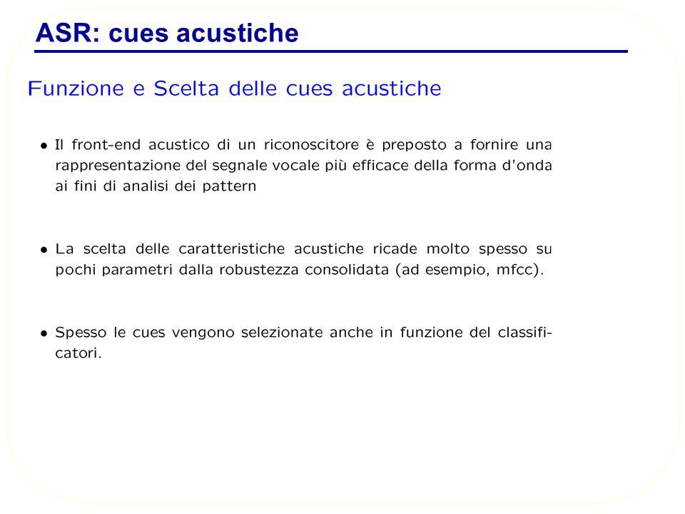 ASR: cues acustiche