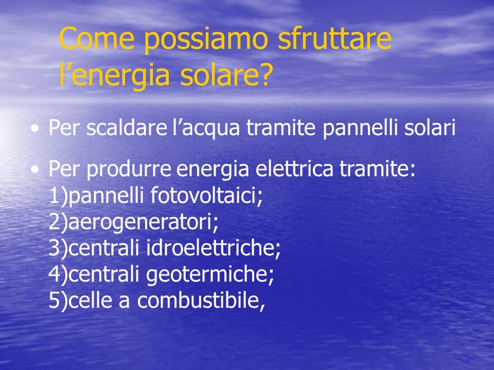 Come possiamo sfruttare lenergia solare.