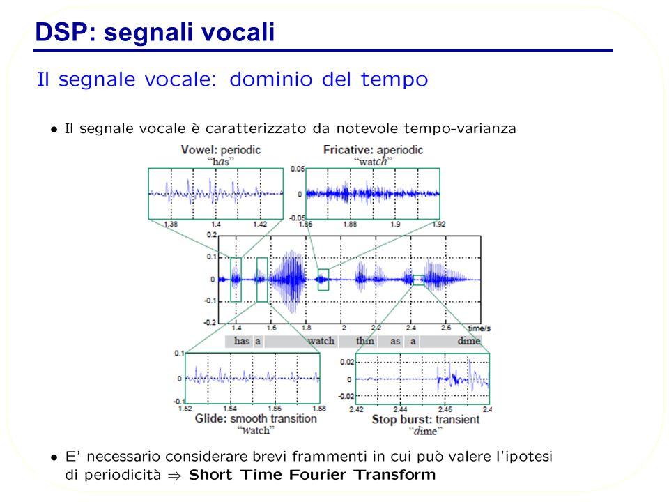 DSP: segnali vocali