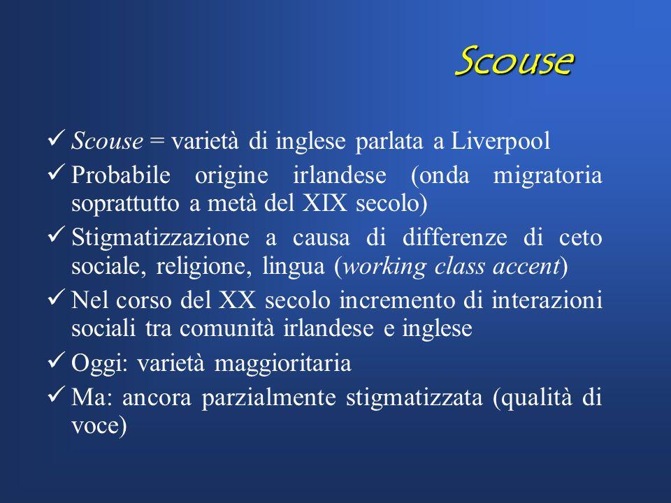 Qualità di voce e indebolimento consonantico: un caso di correlazione in Scouse ? Massimiliano Barbera & Marlen Barth