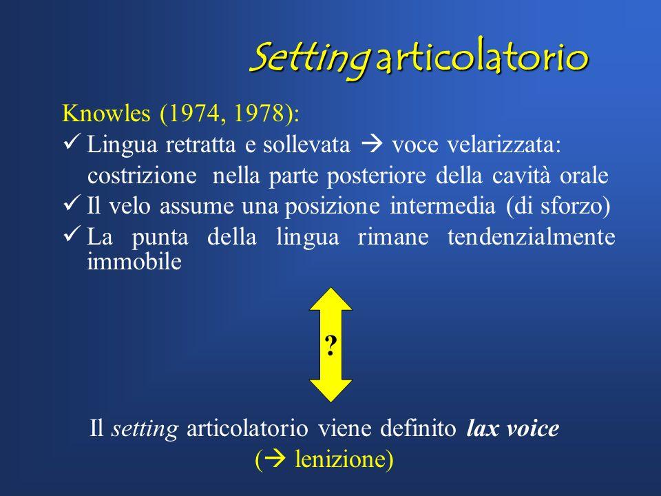 Tratti fonetici Tratti fonetici Lenizione delle occlusive /p t k d/ (Knowles 1974, Honeybone 2001, Sangster 2001, Marotta 2001, Watson 2002, Marotta &
