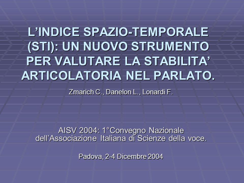 COMPITO DI RIPETIZIONE IN CONDIZIONE NORMALE ADULTO STI=3,10 BAMBINO NORMALE STI= 5,31 BAMBINO BALBUZIENTE STI= 9,45