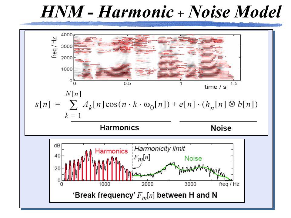 HNM - Harmonic + Noise Model
