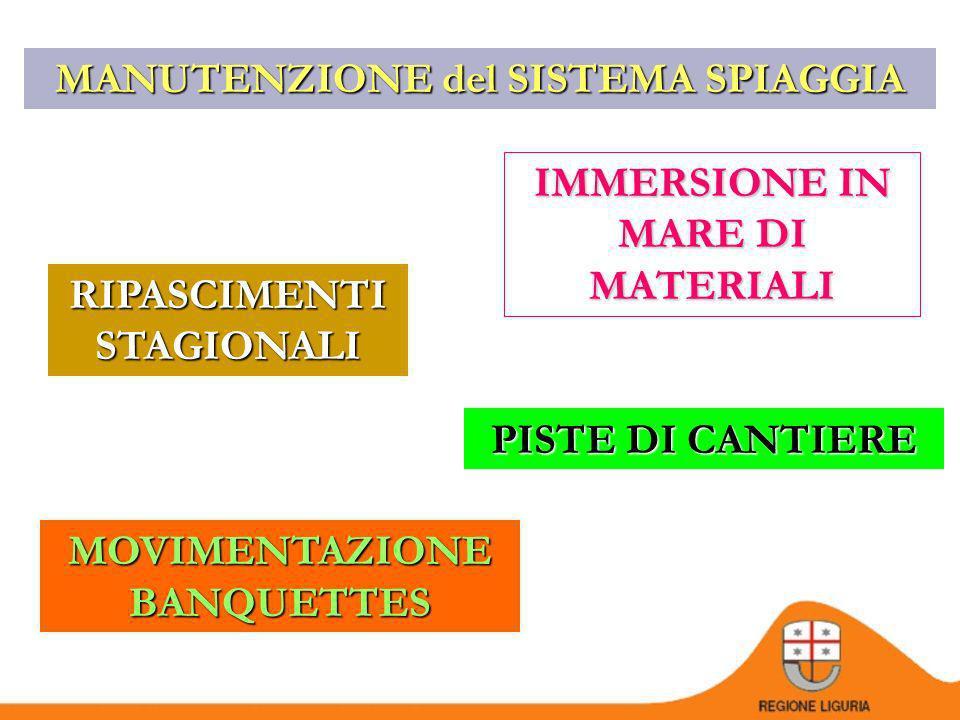 IL REGOLAMENTO n.6/2002 Il PROVVEDIMENTO La FONTE DEL MATERIALE utilizzato per il ripascimento Le CARATTERISTICHE QUALI-QUANTITATIVE dellintervento Il SISTEMA di SPANDIMENTO del materiale La LOCALIZZAZIONE dellintervento su stralcio cartografico 1:5.000 o 1:10.000 Gli OBBLIGHI a carico del PROPONENTE I TERMINI TEMPORALI per la realizzazione dellintervento ADEMPIMENTI a carico del PROPONENTE RIPASCIMENTI STAGIONALI