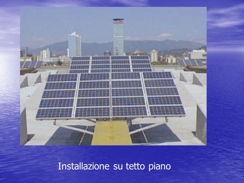 Installazione su tetto piano