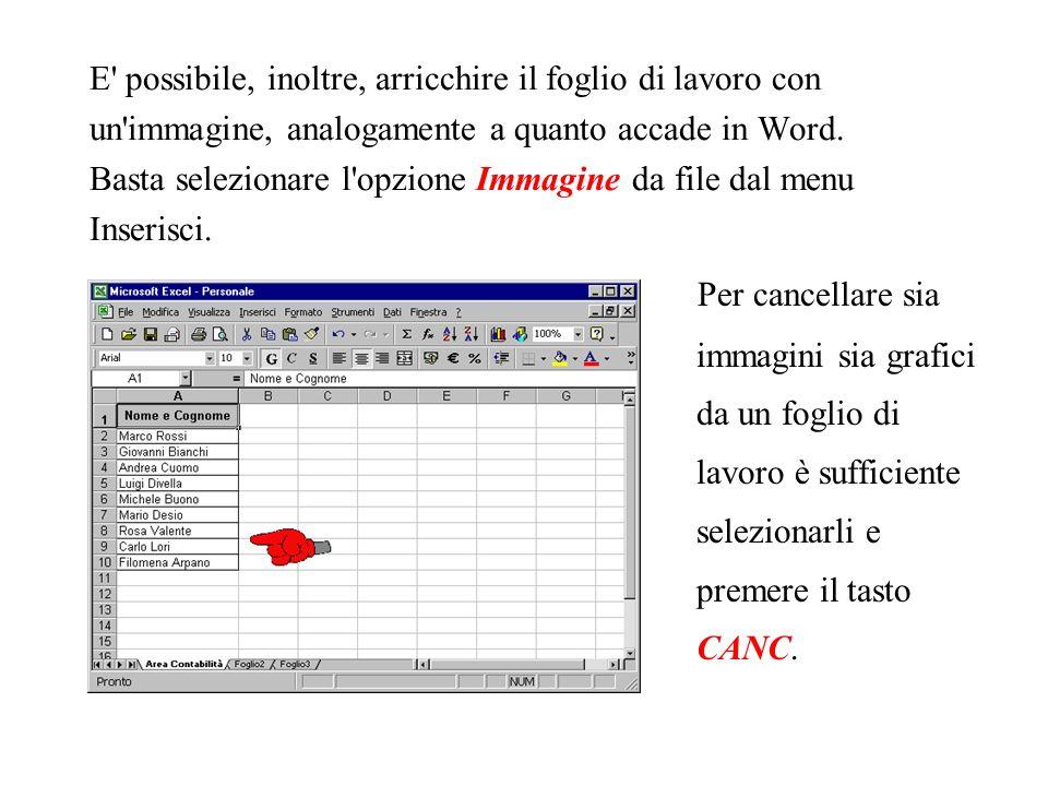 Infine, nella seguente finestra di dialogo, Excel offre la possibilità di scegliere come inserire il grafico e, più precisamente: come nuovo foglio di